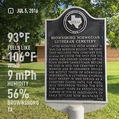 Brownsboro Norwegian Lutheran Cemetery marker visit