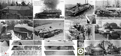 Confirmed and suspected Führer-Begleit Sd.Kfz.251, 1944-45