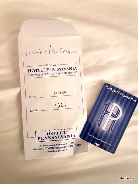 Hotel Pennsylvania hotel key