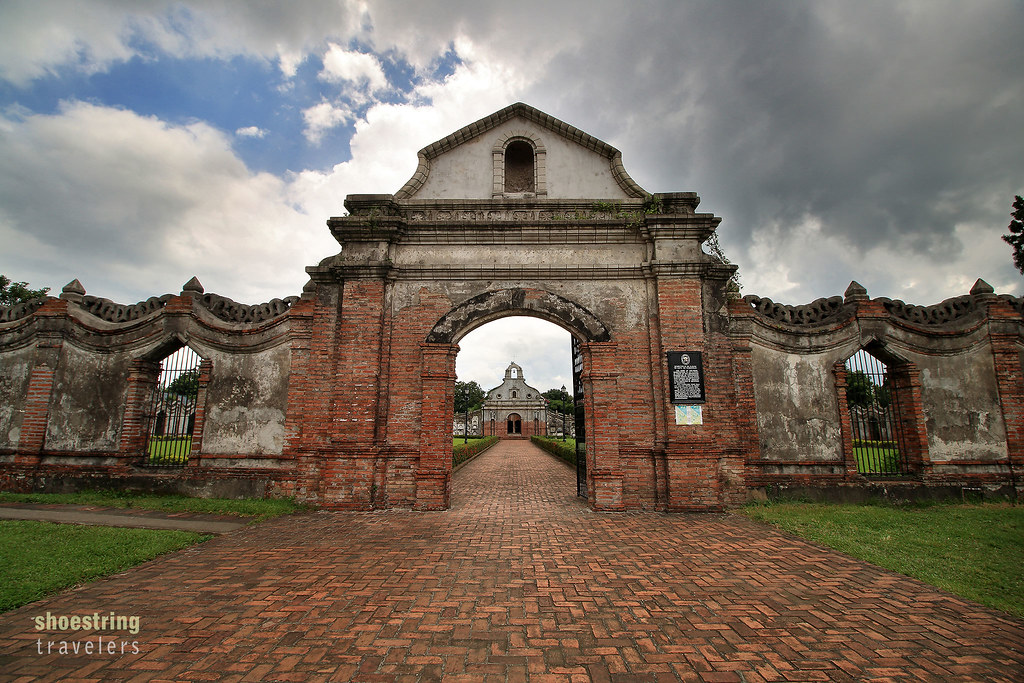 arch entrance of the Underground Cemetery, Nagcarlan, Laguna