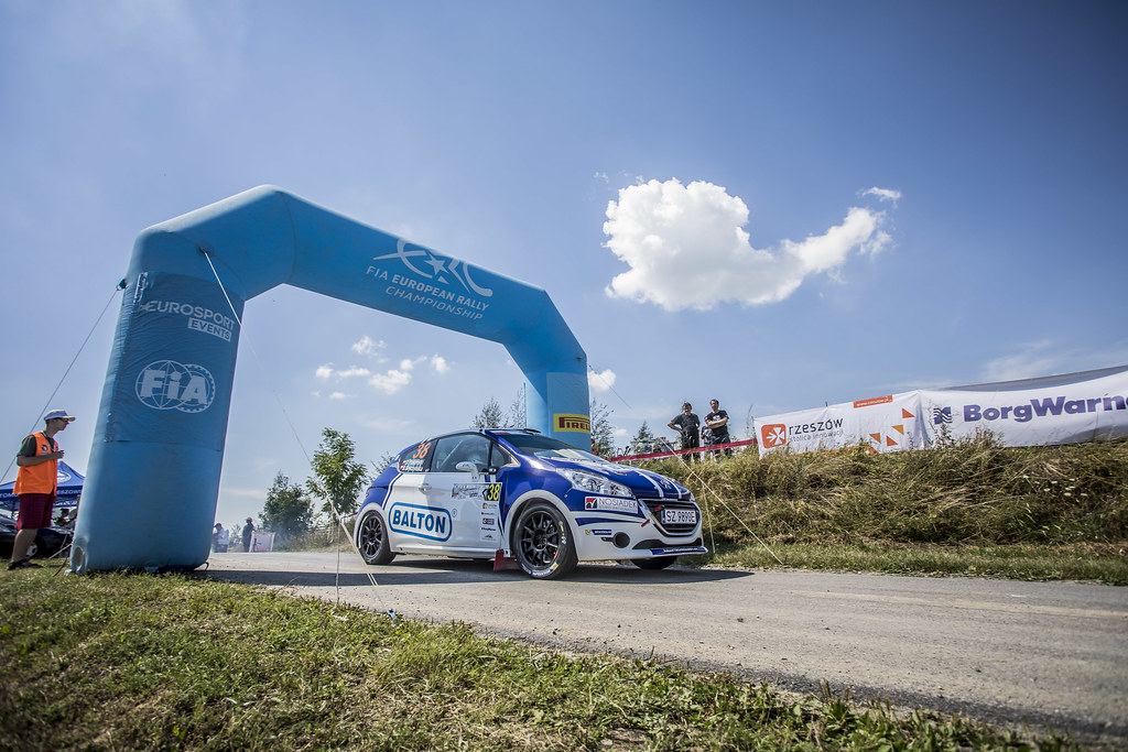 38 POLOŃSKI Dariusz (POL) GRYCZYŃSKA Balbina  (POL)  Peugeot 208 R2 action during the 2017 European Rally Championship Rally Rzeszowski in Poland from August 4 to 6 - Photo Gregory Lenormand / DPPI