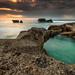 Dusk at Melasti Beach