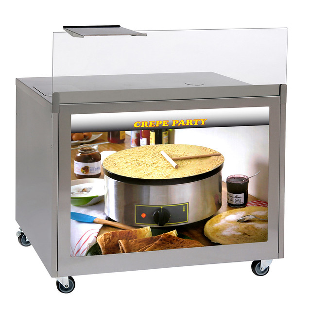 MC-03 Banco carrellato inox versione crepes