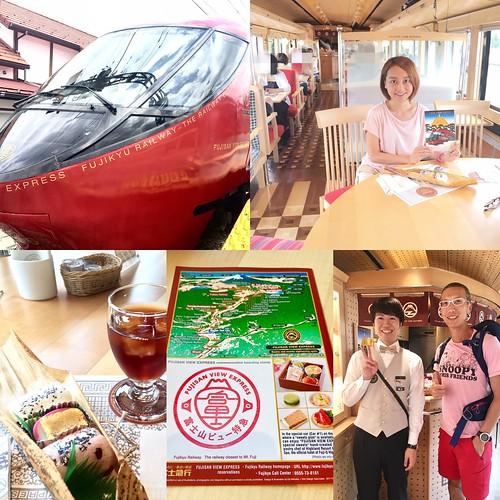 [河口湖交通推薦] 不容錯過! 優雅美的富士山觀光特急火車
