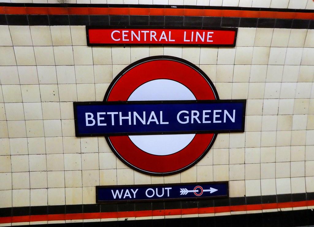 London Underground Roundel, Bethnal Green Station
