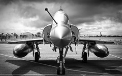 Couteau Delta Mirage 2000 in black and white
