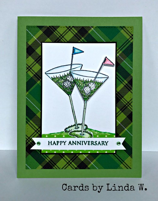 Anniversary golf martinis