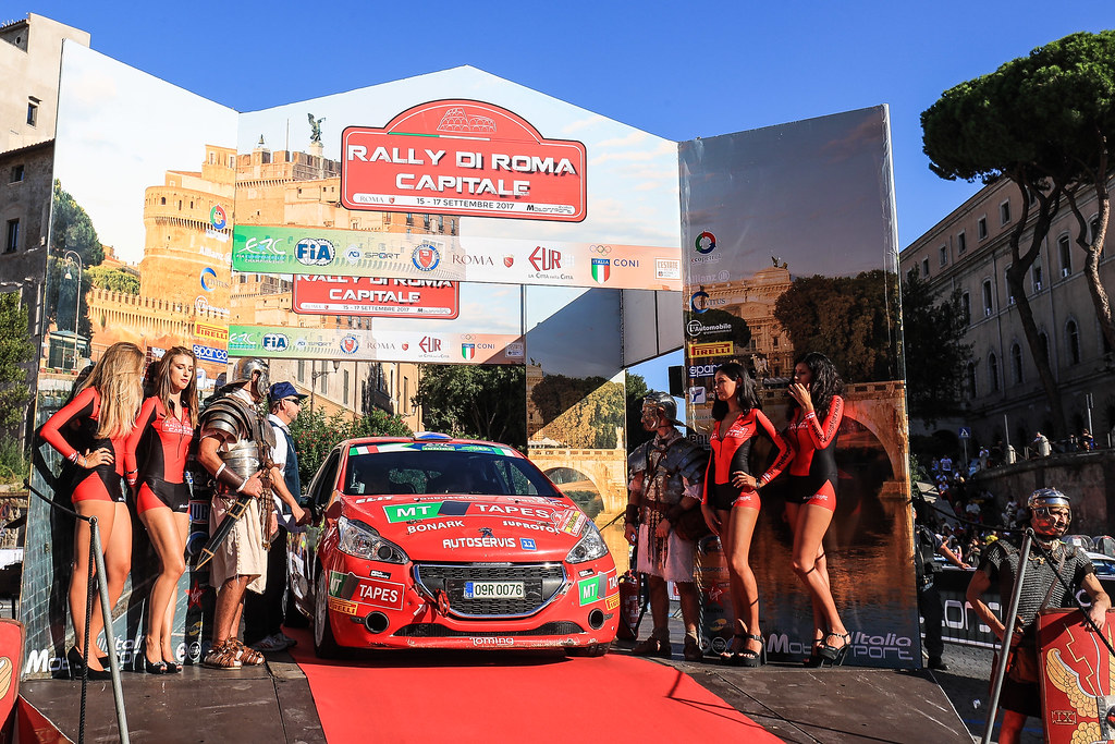 30  KUPEC Radomir (CZE) GLOSSL Petr (CZE) Peugeot 208 R2 start during the 2017 European Rally Championship ERC Rally di Roma Capitale,  from september 15 to 17 , at Fiuggi, Italia - Photo Jorge Cunha / DPPI