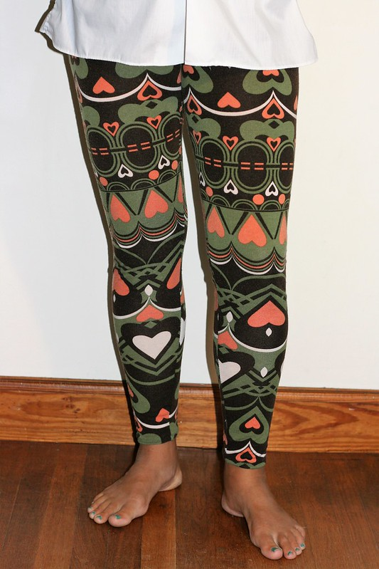 Self-drafted leggings
