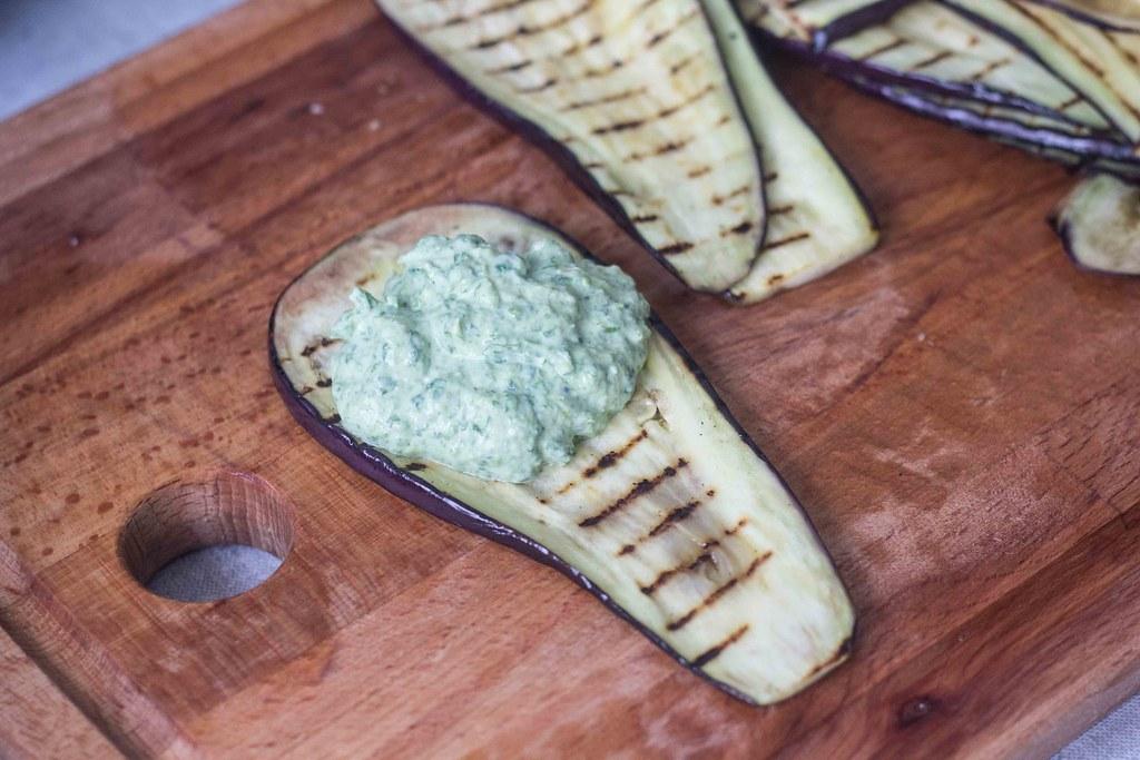 Aubergineruller med spinat og ricotta (10)