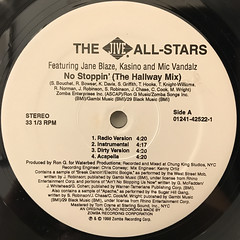THE JIVE ALL STARS:NO STOPPIN'(LABEL SIDE-A)
