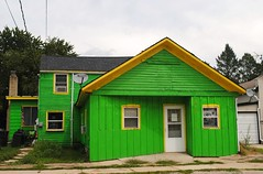 Packers colored house - Milton Wisconsin