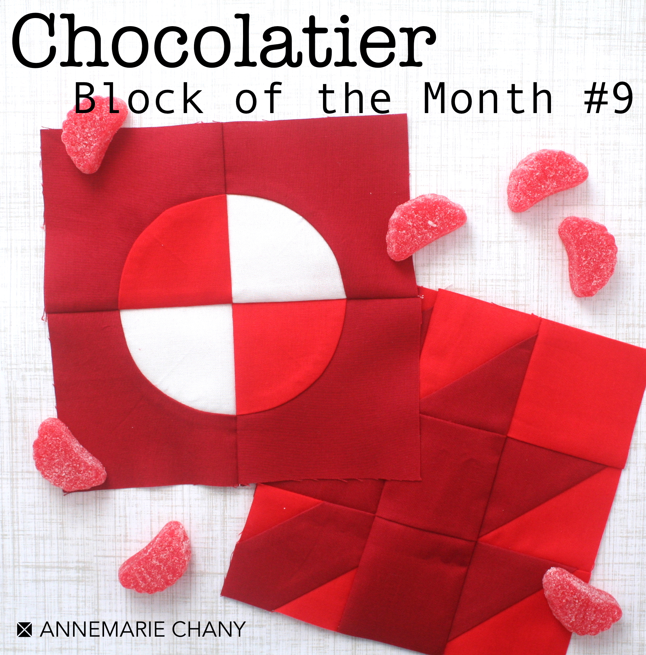 Chocolatier Block of the Month Quilt Blocks #9 by AnneMarie Chany