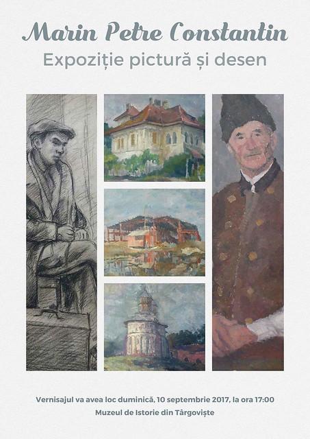 """""""Expozitie pictură și desen MARIN PETRE CONSTANTIN, la Curtea Domnească"""