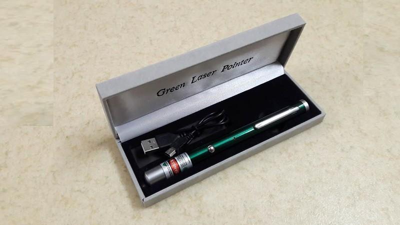 Bút laser sạc USB 5 màu giá rẻ - 4