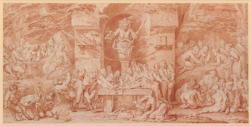 Claude Gillot - Passion for Gambling (study)