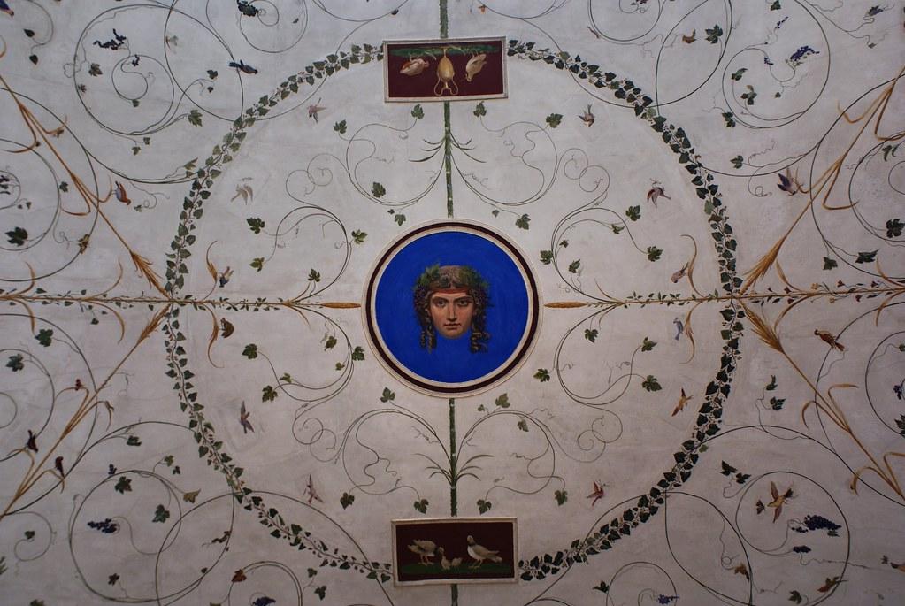 Plafond dans le style renaissance du musée Thorvaldsens à Copenhague.