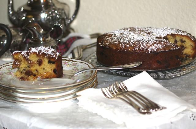 Pear and Cherry Frangipane Cake