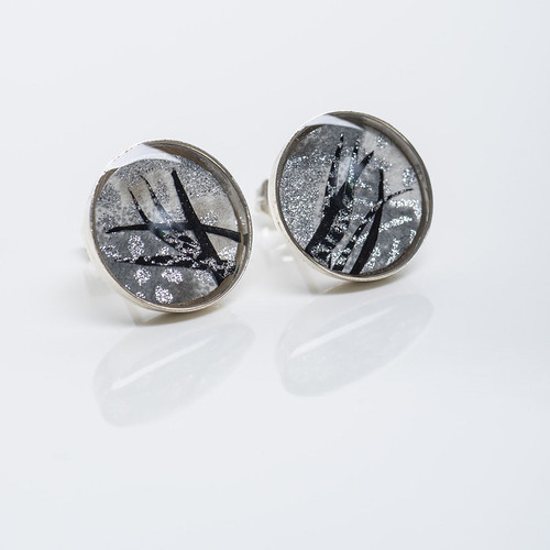 Paper and Resin Earrings by Bashful Pineapple