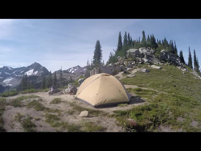 3316 GoPro video panorama from our campsite at Cloudy Pass