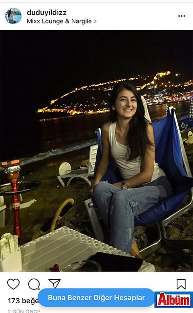 Dudu Yıldız, Mixx Lounge & Nargile'de akşam sefası yaptı.