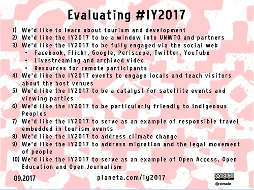 Evaluating #IY2017