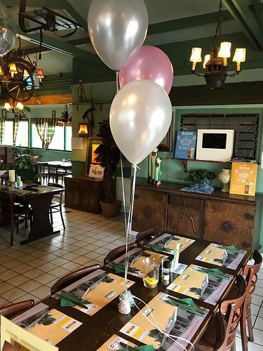 Tafeldecoratie 3ballonnen Zus en Zo Spijkenisse