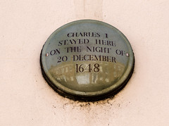 Photo of Charles I gold plaque