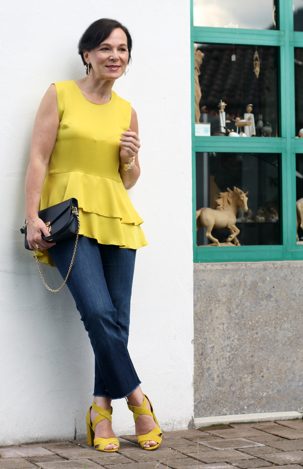 Yellow Summer Top Jeans LadyofStyle 7