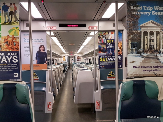 Long Island Rail Road train interior