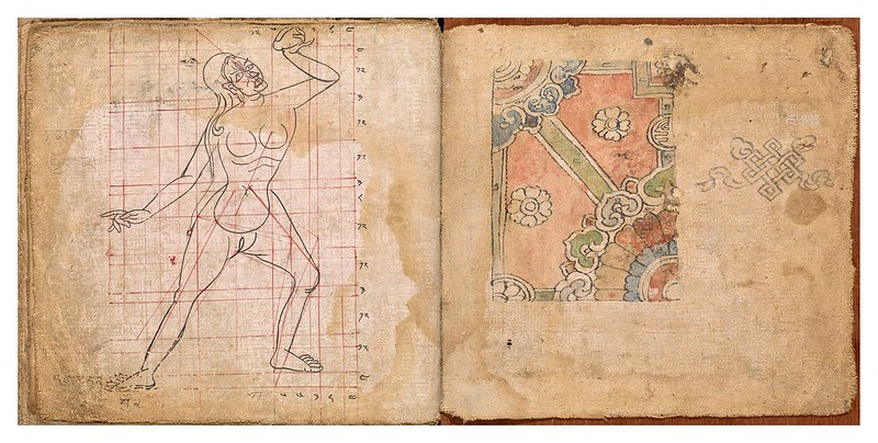 010-Tibetan pattern book of proportions- Getty Digital Collections