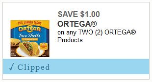 Ortega Products Coupon