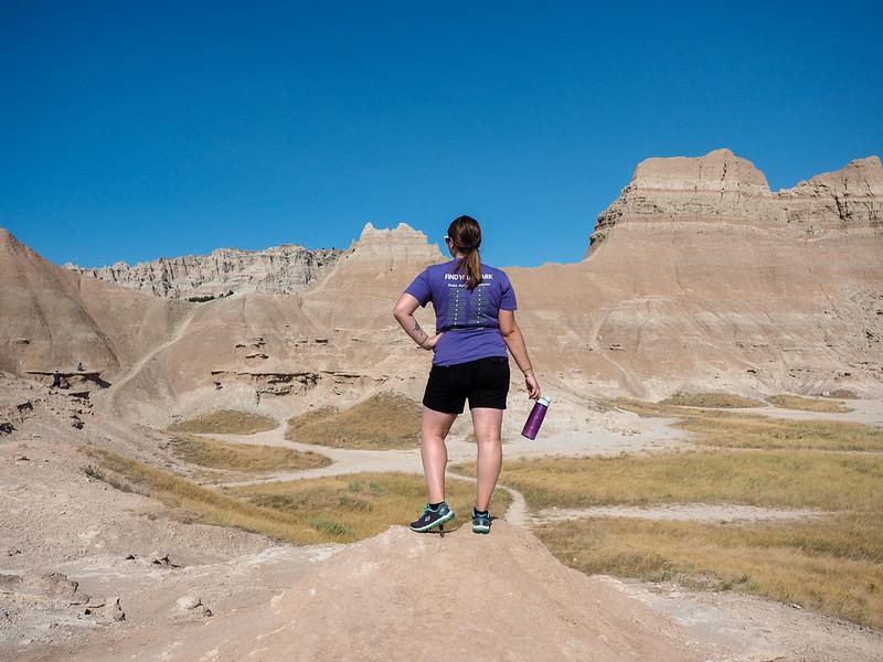 Amanda at Badlands National Park