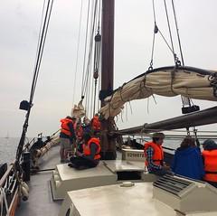 Op de haven aan #loodsbotter. De gasten hebben genoten! #Texelstroom #Texel