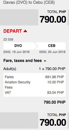 Davao to Cebu AirAsia Promo June 19, 2018