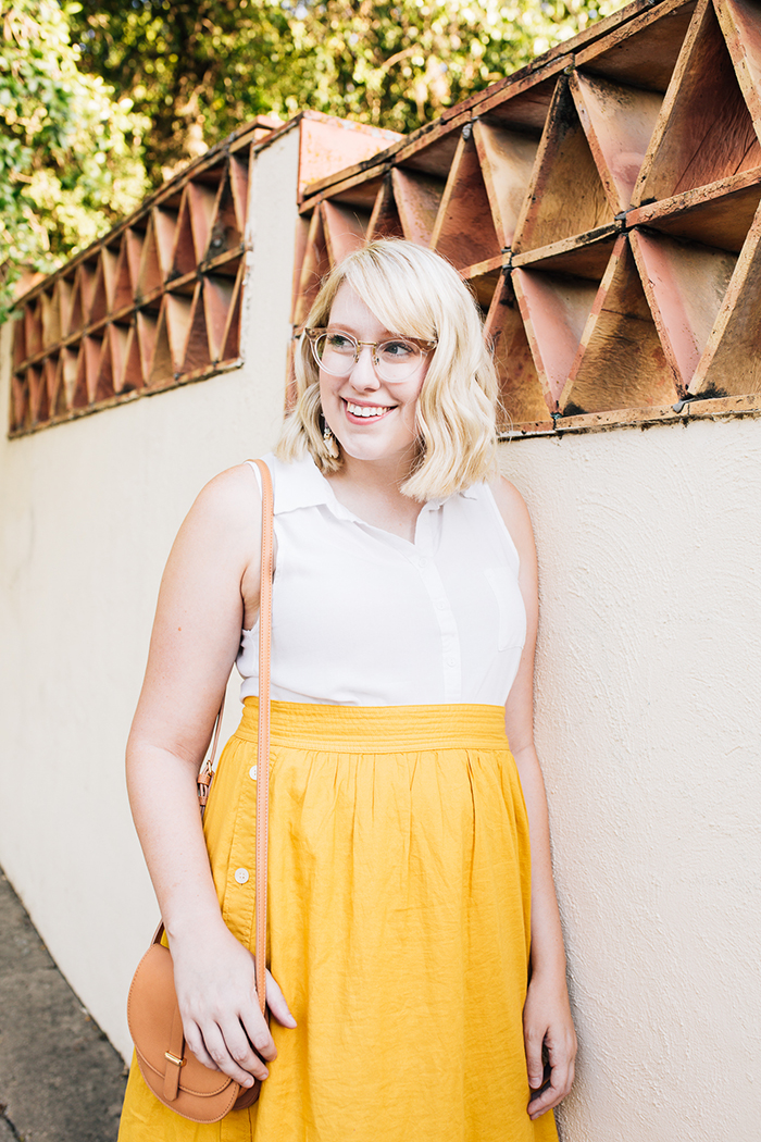 austin fashion blogger writes like a girl madewell yellow midi skirt15