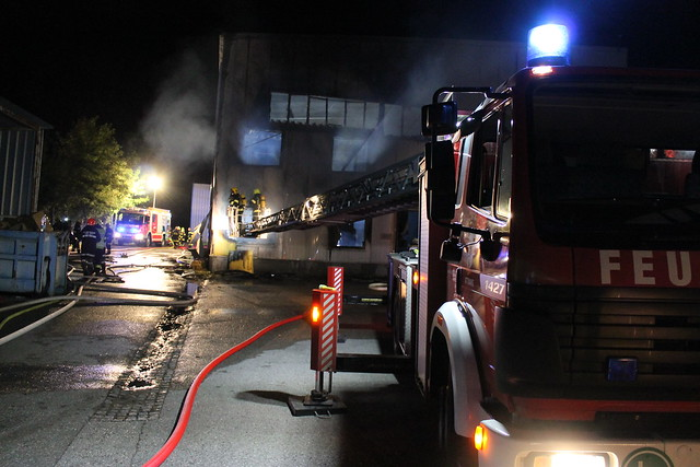 17.08.2017 Brand in Industriebetrieb in Schlatt