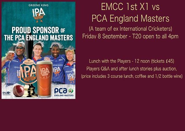 EMCC v PCA Masters