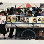 James Milmoe; Street Scene, Seoul, Korea with Soldiers and Tanks; Photograph; 1985 -