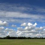 Fluffy clouds at Ashton Park Preston