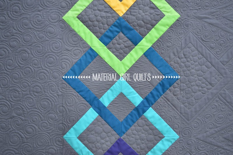Linked Quilt designed and pieced by Amanda Castor of Material Girl Quilts (quilted by Marion McClellan - My Quilt Diet)