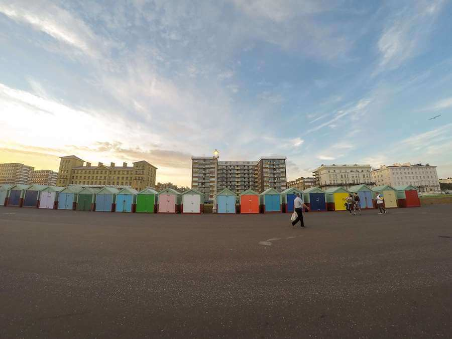 beach huts in brighton england
