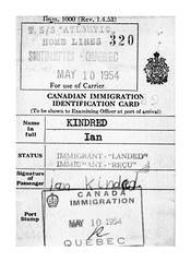Landed Immigrant card