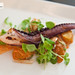 Grilled octopus, fingerling potatoes, daikon radish, .tobiko mayonnaise