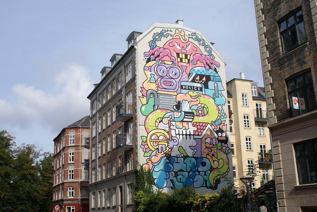 Nørrebro est l'un des quartiers avec le plus de street art à Copenhague.