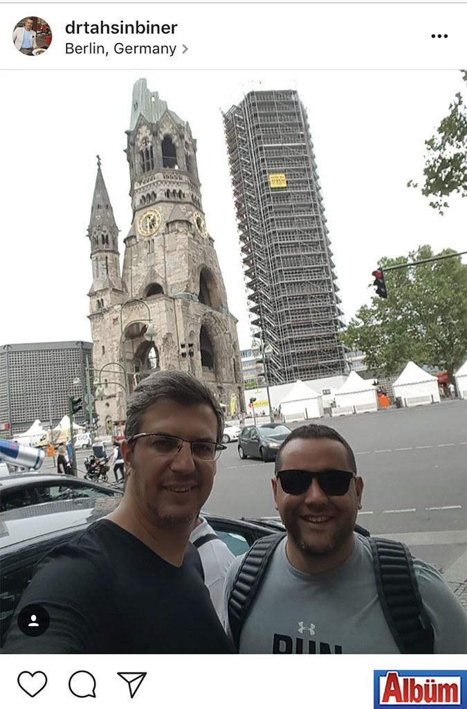 Dermalanya Güzellik Merkezi'nin ortaklarından Dr. Tahsin Biner, yakın dostu Süleyman Kasapoğlu ile Berlin'deydi.