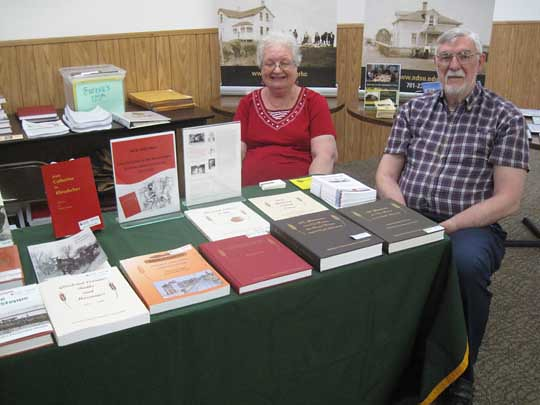 Thomas and Janice (Huber) Stangl, Ashburn, VA, natives of Bowdle, SD, assisting with Glueckstal Colonies Research Association books (www.glueckstal.net)