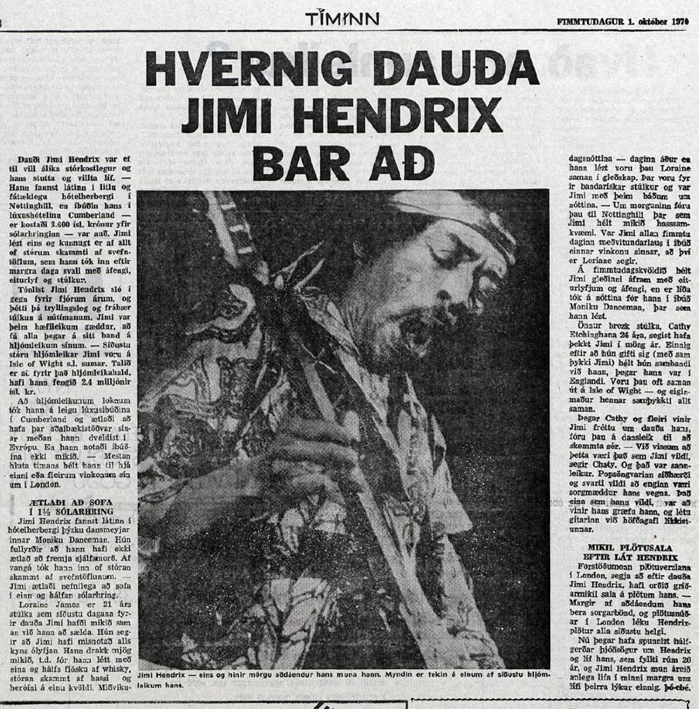 TIMINN (ICELAND) OCTOBER 1, 1970
