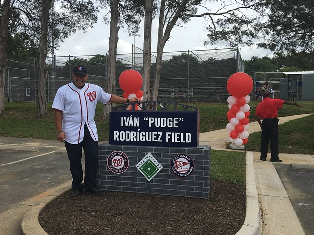 "Iván ""Pudge"" Rodríguez field at Mason District Park - August 2017"