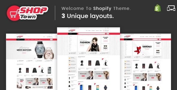 Shop Town v1.0 – Sectioned Multipurpose Shopify Theme